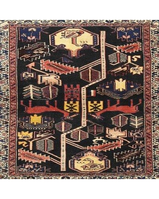 Bloomsbury Market Traditional Black/Red Area Rug X112038404 Rug Size: Round 4'