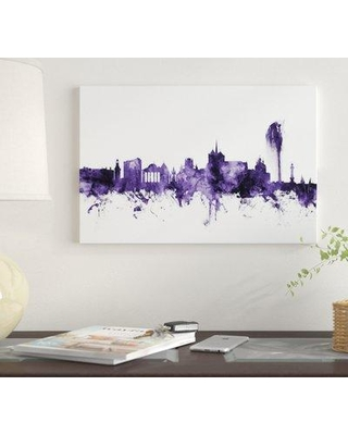 "East Urban Home 'Geneva Switzerland Skyline' by Michael Tompsett Graphic Art Print on Wrapped Canvas EUME4491 Size: 40"" x 60"" x 1.5"""