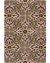 Ivy Bronx Burchell Gren/Pink Temple Area Rug IVBX3310 Rug Size: Rectangle 2' x 3'