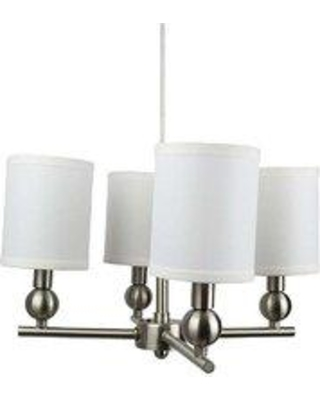 Charlton Home® Magdalen 4-Light Shaded Classic / Traditional Chandelier X112194676 Finish: Brushed Nickel