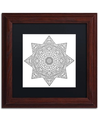 """Trademark Fine Art """"Mixed Coloring Book 14"""" Canvas Art by Kathy G. Ahrens, Black Matte, Wood Frame"""