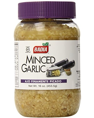 Badia Minced Garlic in Water, 16 Ounce (Pack of 12)