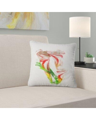 """East Urban Home Floral Beautiful Bell Flower Watercolor Pillow FUSI5113 Size: 18"""" x 18"""" Product Type: Throw Pillow"""