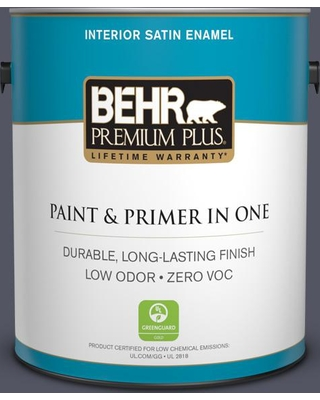 BEHR Premium Plus 1 gal. #MQ5-06 Ball Gown Satin Enamel Low Odor Interior Paint and Primer in One