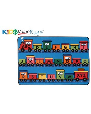 KID$ Value Rugs™ Tufted Blue/Red/Orange Area Rug Carpets for Kids Rug Size: Rectangle 4' x 6'