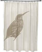 Rosecliff Heights Falkirk Print Shower Curtain ROHE5498 Color: Flax