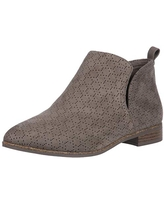 Dr. Scholl's Shoes womens Rate Ankle Boot, Olive Perforated Microfiber Suede, 7 US