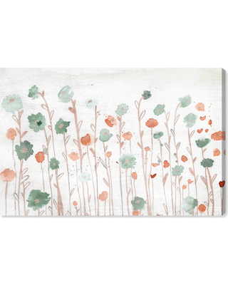 Oliver Gal Beautiful Growth Orange Canvas Wall Art, Size 20x30 - White