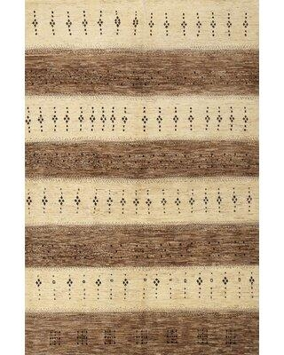 World Menagerie Philllip Contemporary Beige/Brown Area Rug W001966536 Rug Size: Rectangle 4' x 6'