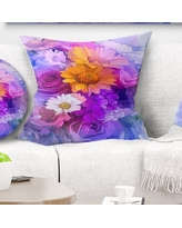 Deals For Floral Bright Gerbera And Daisies Pillow East Urban Home Size 16 X 16 Product Type Throw Pillow