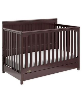 Graco® Hadley 4-in-1 Convertible Crib with Drawer in Espresso