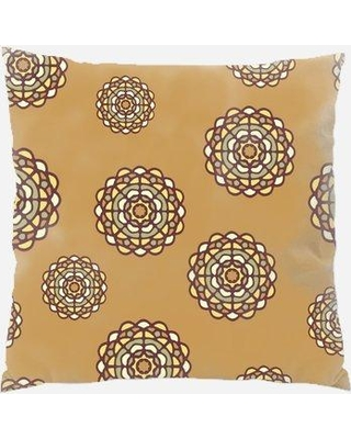 Ebern Designs Dinkins Circle Throw Pillow X111095254 Color: Brown Location: Indoor