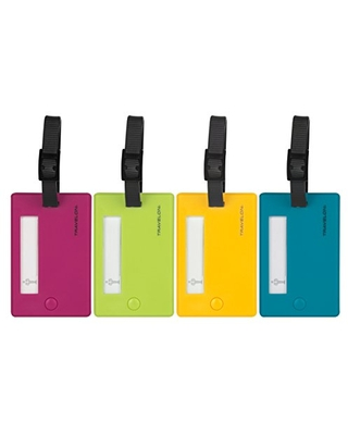 Travelon Set Of 4 Assorted Color Luggage Tags, One Size