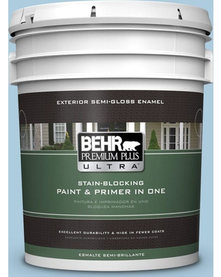 BEHR Premium Plus Ultra 5 gal. #M500-2 Early September Semi-Gloss Enamel Exterior Paint and Primer in One