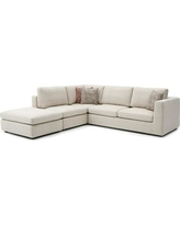 Focus One Home Emily Sectional FC-1641-22L-72R-07 Upholstery: Corona Blue Orientation: Left Hand Facing