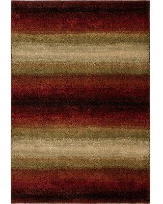 "The Conestoga Trading Co. Connection Lava Skyline Red/Brown Area Rug CNTC1482 Rug Size: 7'10"" x 10'10"""