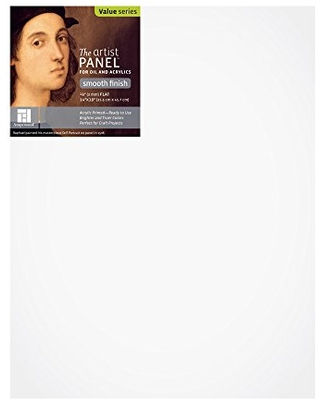 """Ampersand Art Supply Wood Gesso Artist Painting Panel: Primed Smooth, 14""""x18"""", 1/8 Inch Depth"""