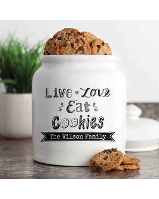 Personalized Live, Love, Eat Cookies Treat Jar