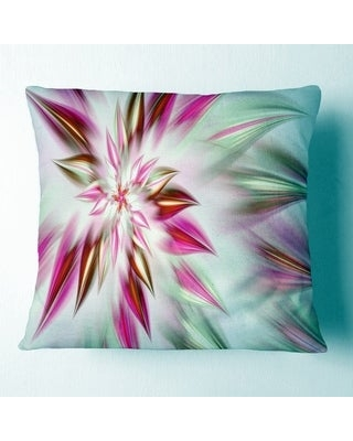 Shopping Special For Designart Dance Of Red Exotic Flower Floral Throw Pillow Square 16 In X 16 In Small