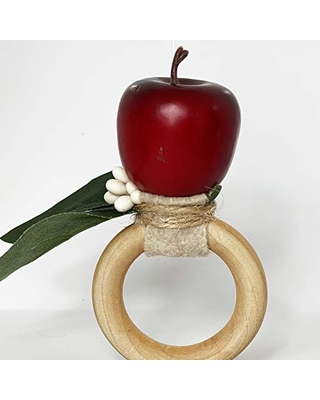 Apple flower napkin ring. set of 4. This rustic napkin ring set is great to decor your elegant table. Handmade rustic napkin rings come in a set of 4