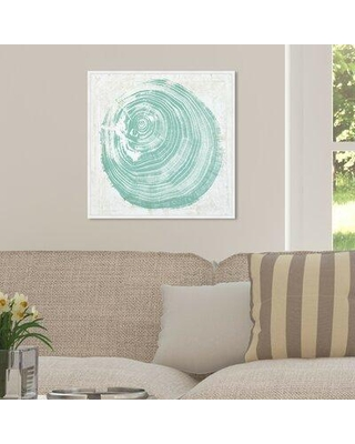 """House of Hampton® 'Legno in Verde' Graphic Art Print X113206138 Format: Wrapped Canvas Size: 24"""" H x 24"""" W x 2"""" D"""