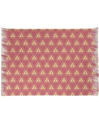 East Urban Home Minimalist Trees Red/Yellow Area Rug W001670813 Non-Skid Pad Included: Yes