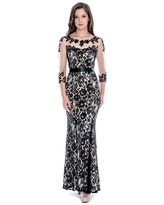 Decode 1.8 - Illusion Lace Flared Gown 183174