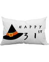 SafiyaJamila Holiday Treasures Happy 31st Halloween Indoor/Outdoor Lumbar Pillow Happy31st_Lumbar