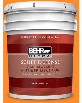 BEHR ULTRA 5 gal. #S-G-280 Mango Madness Extra Durable Flat Interior Paint & Primer