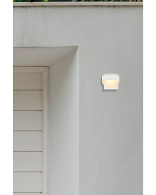 Remarkable Deals On Addilynn 1 Bulb 5 H Integrated Led Outdoor Armed Sconce Mercury Row Fixture Finish White