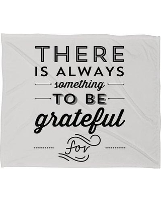 East Urban Home Something To Be Grateful For Throw Blanket UNFP4436