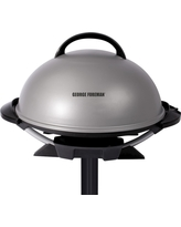 George Foreman 15 Serving Indoor/Outdoor Electric Grill, Silver