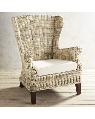 Elegant Loxley Wicker Wingback Chair