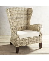 Loxley Wicker Wingback Chair