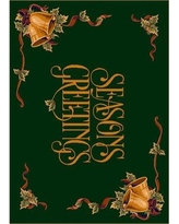 """The Holiday Aisle Norsworthy Seasons Greetings Green Area Rug X111673594 Rug Size: Rectangle 3'10"""" x 5'4"""""""