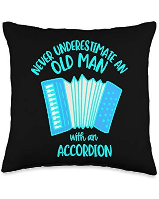 Here S A Great Deal On Cute Music Decor And Instruments Cute Themed Decor With Music Accordion Throw Pillow 16x16 Multicolor