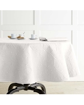 "Vine Floral Boutis Tablecloth, 70"" Round, White"