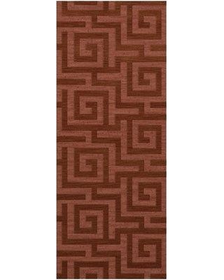 """Everly Quinn Jessica Tufted Wool Coral Area Rug X112698624 Rug Size: Runner 2'6"""" x 8'"""