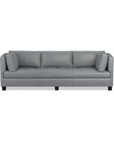 "Wilshire Sofa, Standard Cushion, 96"" Sofa, Tuscan Leather, Solid, Dove"