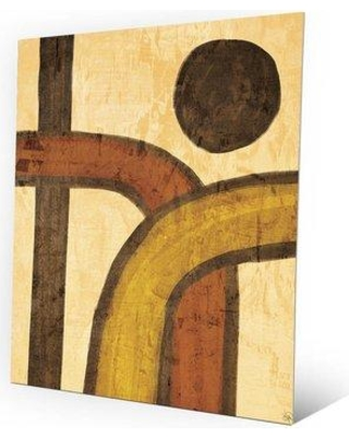 """Click Wall Art 'Direct Intertwine' Painting Print on Plaque ABS0000454MTL Size: 20"""" H x 16"""" W x 1"""" D"""