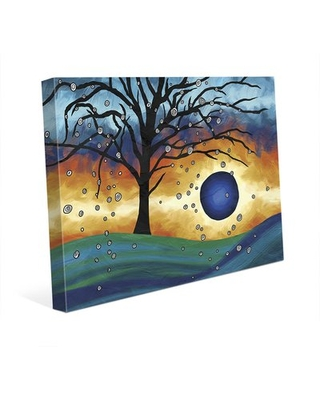 """'Edge of the Sunset Alpha' Print of Painting on Wrapped Canvas Click Wall Art Size: 20"""" H x 30"""" W x 1.5"""" D"""