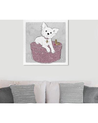 "Art Remedy Dogs and Puppies 'Chihuahua and Glam' Graphic Art Print on Wrapped Canvas 25841_XHD Size: 30"" H x 30"" W x 1.5"" D"