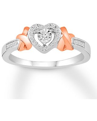 fb4e323c0 Amazing New Deals on Diamond Promise Ring 1/10 ct tw Sterling Silver ...