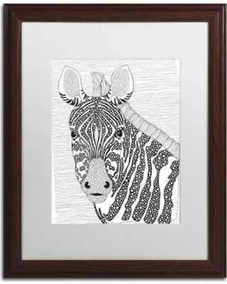 """Trademark Art 'Animals 18' by Hello Angel Framed Graphic Art ALI2980-W1620BMF / ALI2980-W1114BMF Size: 20"""" H x 16"""" W x 0.5"""" D Matte Color: White"""