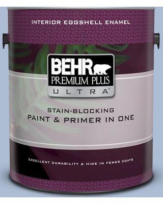 BEHR ULTRA 1 gal. #580E-3 Sweet Blue Eggshell Enamel Interior Paint and Primer in One