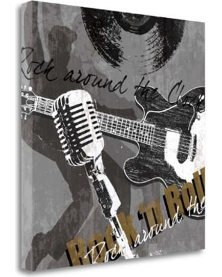 Tangletown Fine Art 'Rock n Roll' Graphic Art Print on Wrapped Canvas CA305771-2222c