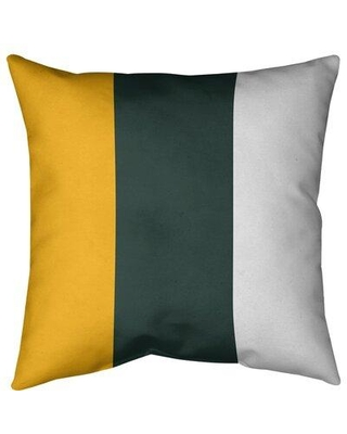"East Urban Home Green Bay Football Indoor/Outdoor Throw Pillow FCJK8014 Size: 20"" x 20"" Color: Green Accent"