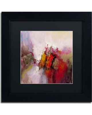 """Trademark Art 'Hot and Cold' by Ricardo Tapia Framed Painting Print MA0481-B1 Size: 11"""" H x 11"""" W Matte Color: Black"""