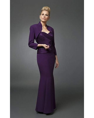 Alexander by Daymor - 7003 Mermaid Strapless Gown with Bolero Jacket