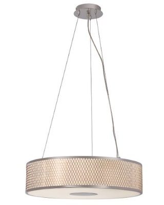 Trans Globe Imports 10144 PC Transitional Four Light Pendant from Cardiff Collection in Chrome Finish, 20.00 inches